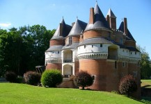 Chateau de Rambures versant gauche