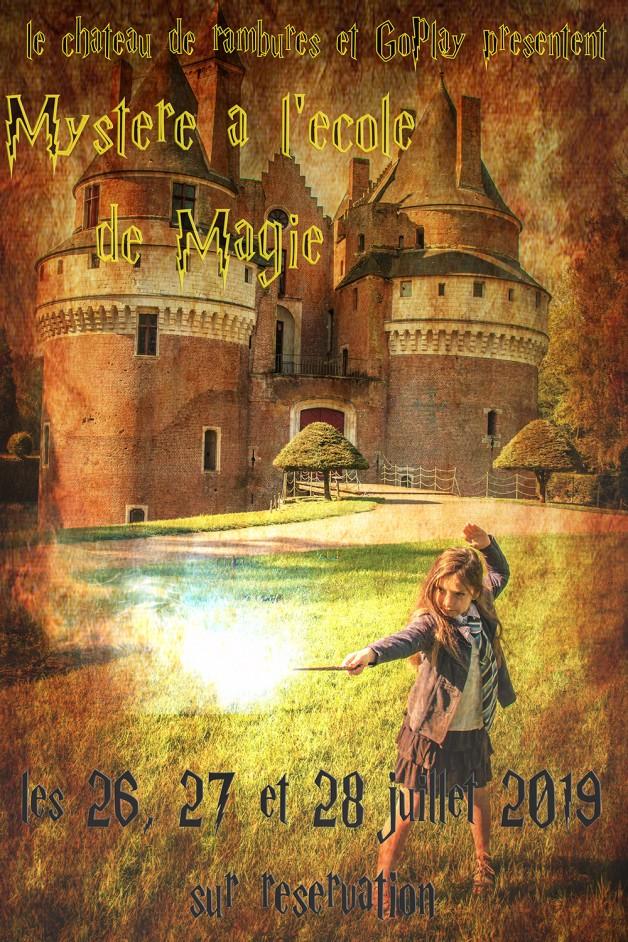 26, 27 et 28 Juillet: Mystère à l'école de Magie