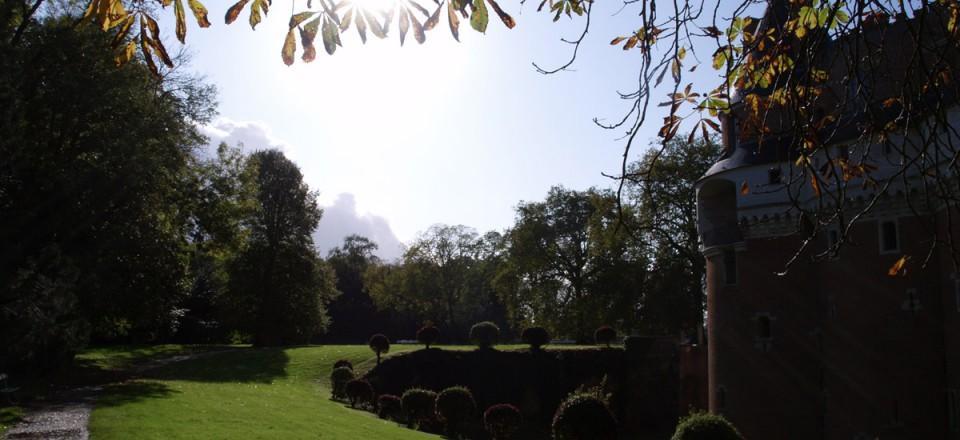 fin de journee d'automne sur le chateau