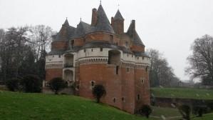 Retour de la neige au château de Rambures 27 janvier 2014
